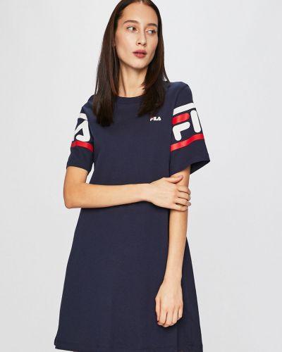 Платье мини однотонное прямое Fila