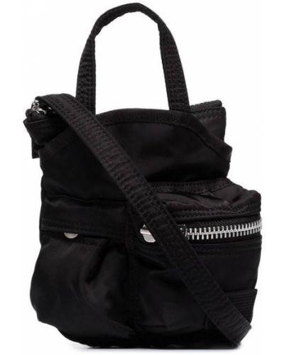 Czarna torebka mini z nylonu Sacai
