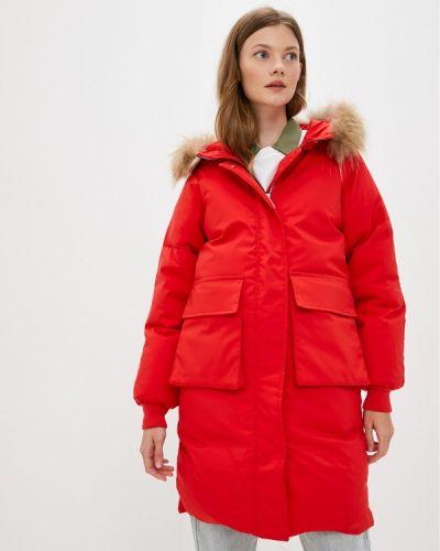 Утепленная куртка - красная Moki