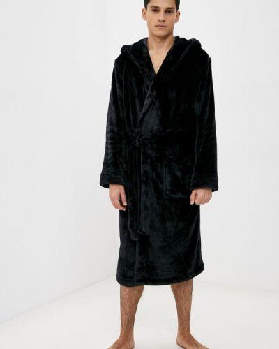 Черный домашний халат Marks & Spencer