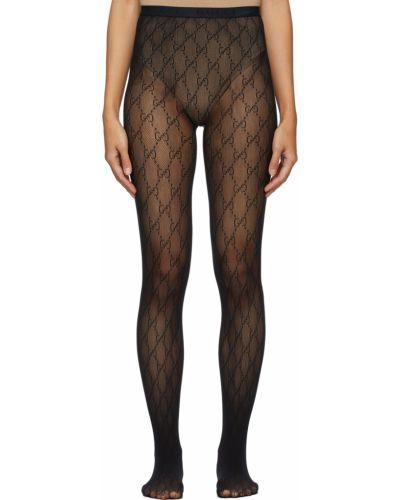 Rajstopy z nylonu - czarne Gucci