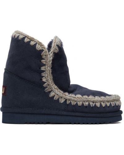 Замшевые ботинки на каблуке с подкладкой Mou
