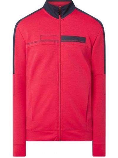 Bluza rozpinana bawełniana - różowa Boss Athleisurewear