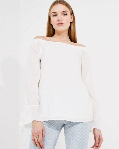 Блузка с открытыми плечами белая весенний Boss Hugo Boss