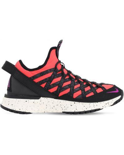 Кроссовки на шнуровке - оранжевые Nike Acg