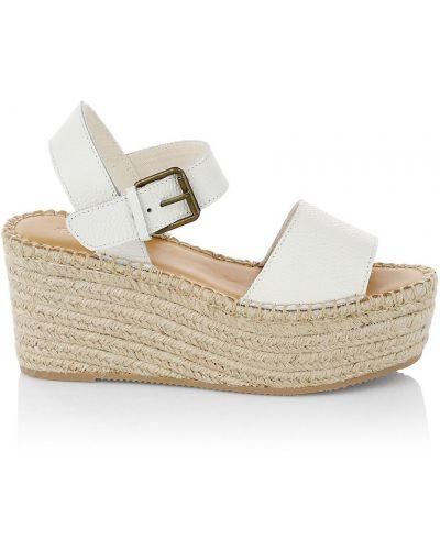 Białe sandały na platformie Soludos