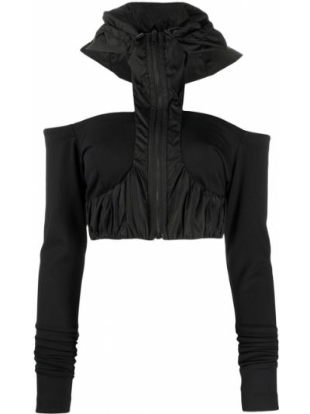 Черный классический топ с капюшоном с открытыми плечами No Ka 'oi
