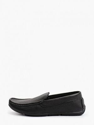 Черные кожаные мокасины Shoiberg
