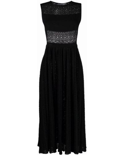 Czarna sukienka bawełniana bez rękawów Antonino Valenti