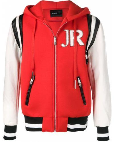 Куртка с капюшоном с вышивкой с манжетами John Richmond