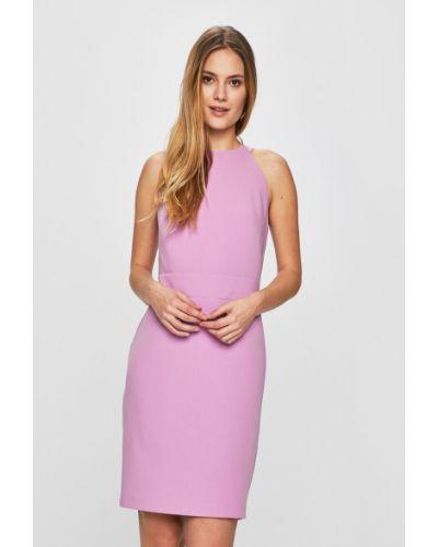Фиолетовое облегающее платье мини закрытое Answear