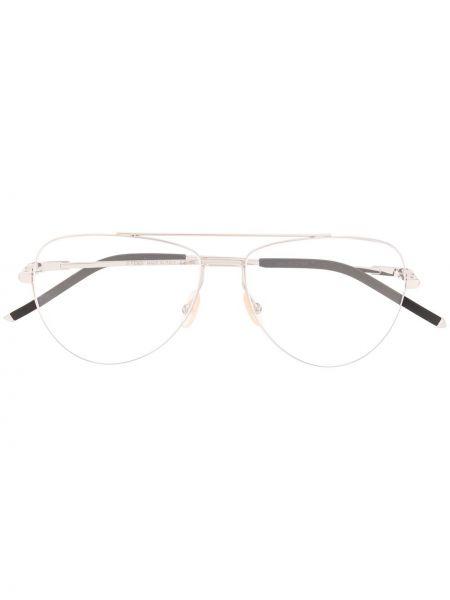Prosto czarny oprawka do okularów metal Fendi Eyewear