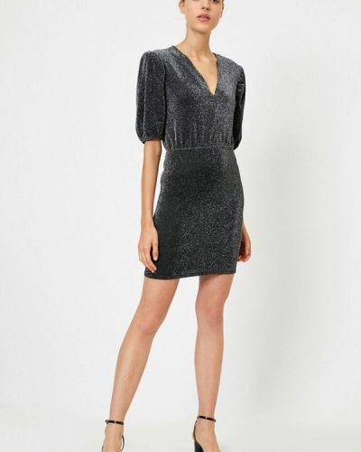 Серебряное вечернее платье Koton
