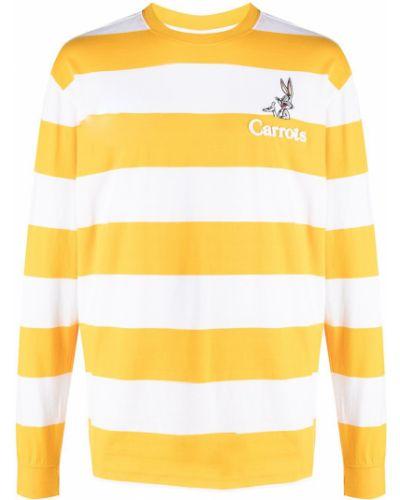 Żółta bluza z haftem z długimi rękawami Carrots