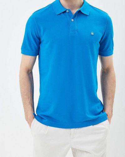 Синее поло United Colors Of Benetton