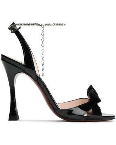 Sandały skórzane - czarne Alexachung