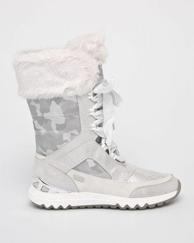 Сапоги зимние на шнуровке Marco Tozzi