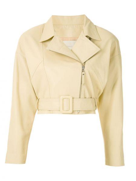Желтая длинная куртка Framed