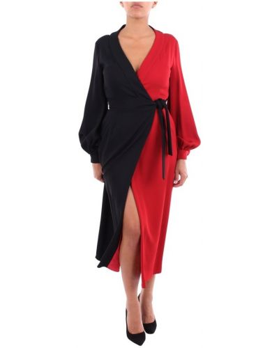 Czerwona sukienka długa Stella Jean