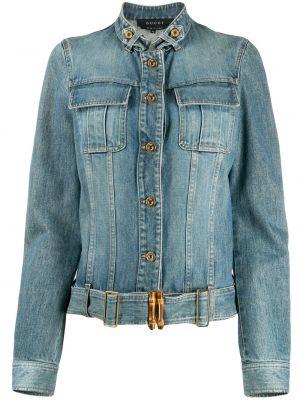 Джинсовая куртка на пуговицах с карманами Gucci Pre-owned