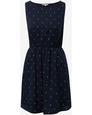 Платье с поясом с цветочным принтом прямое Tom Tailor