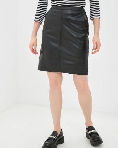 Черная кожаная юбка Betty Barclay