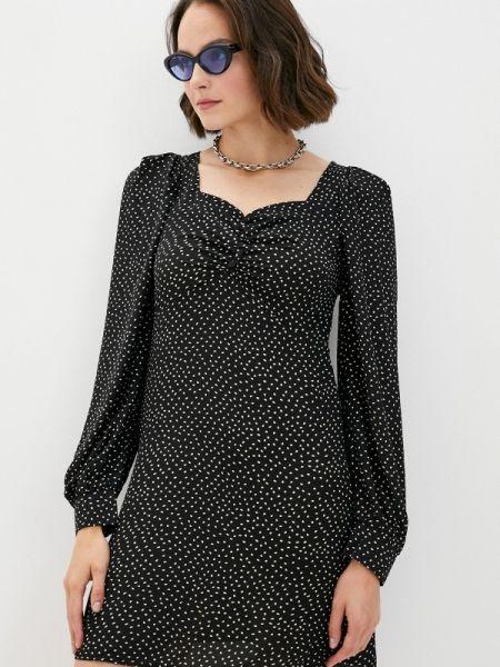 Черное прямое платье осеннее B.style