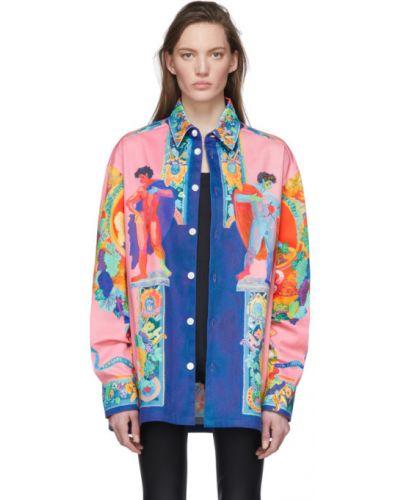 Джинсовая куртка длинная оверсайз Versace
