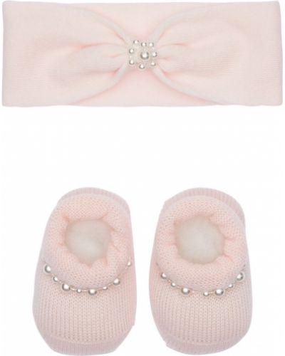 Różowy skarpetki rozciągać z perłami La Perla