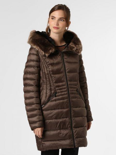 Beżowy płaszcz z kapturem Creenstone