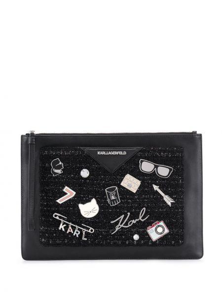 Сумка сумка-мешок черная Karl Lagerfeld
