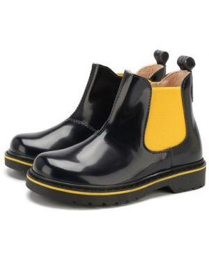 Ботинки челси синие Walkey