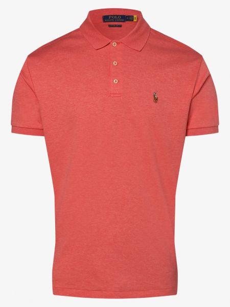Miękki różowy t-shirt Polo Ralph Lauren