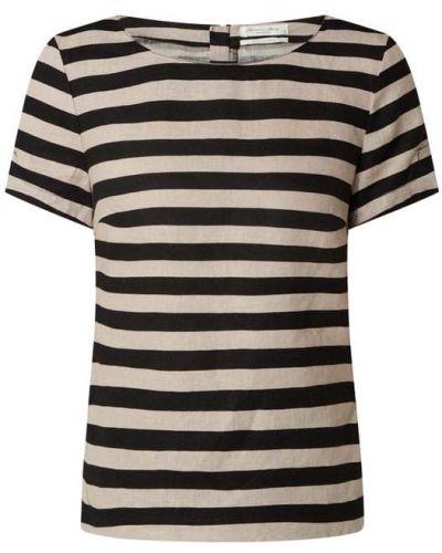 Czarna bluzka w paski krótki rękaw Christian Berg Women