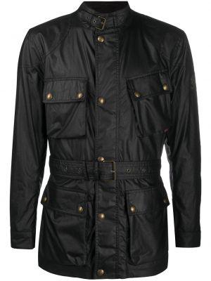 С рукавами серая куртка с поясом Belstaff