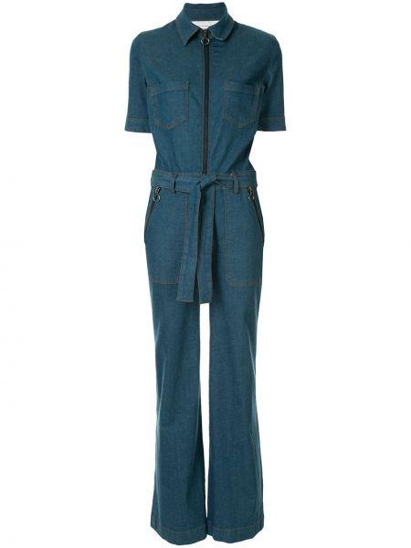Джинсовый комбинезон в полоску с шортами Victoria, Victoria Beckham