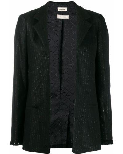 Черный пиджак с люрексом Zadig&voltaire