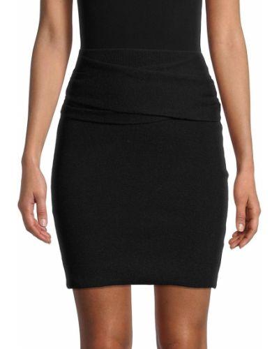 Черная шерстяная юбка мини Iro