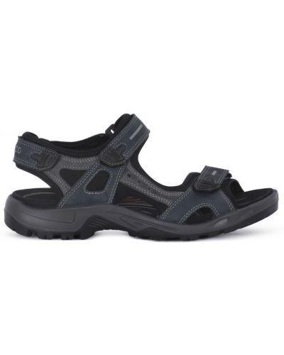 Szare sandały na niskim obcasie Ecco
