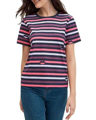 Хлопковая футболка в полоску с нашивками Kate Spade New York