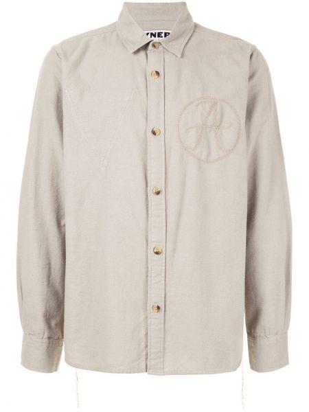 Прямая рубашка с воротником с вышивкой на пуговицах Vyner Articles