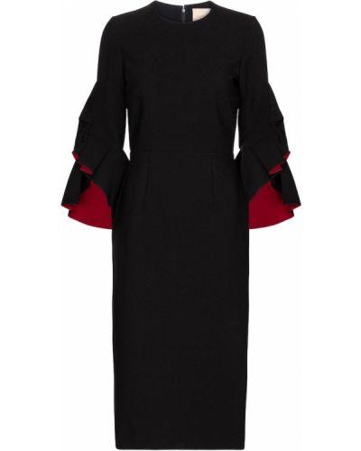 Платье миди - черное Roksanda