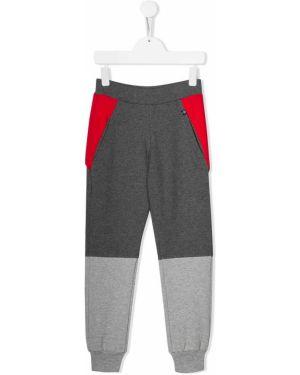 Spodnie na gumce sportowe z wysokim stanem Philipp Plein Junior