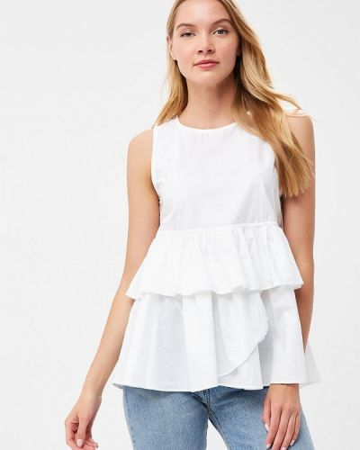Белая блузка с рюшами Fornarina
