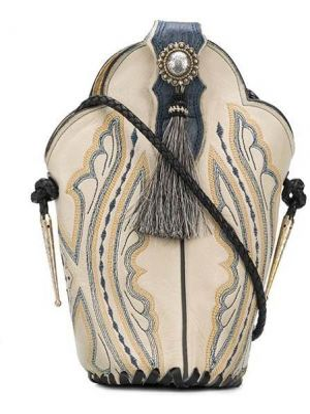 Кожаная сумка через плечо с кисточками на кнопках с подкладкой Jessie Western