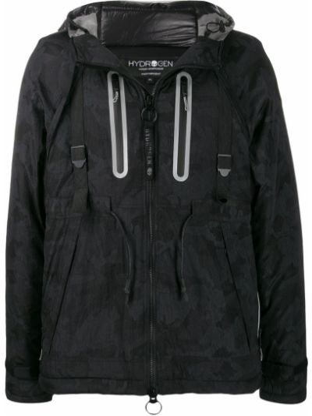 Czarna kurtka z kapturem do pracy Hydrogen