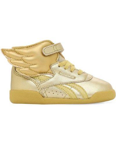 Sneakersy perforowany metal na sznurowadłach złoto Reebok Classics