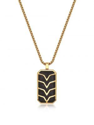 Черное ожерелье с подвесками позолоченное Nialaya Jewelry