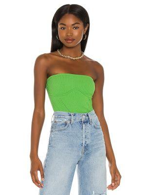 Zielona koszulka z nylonu Camila Coelho