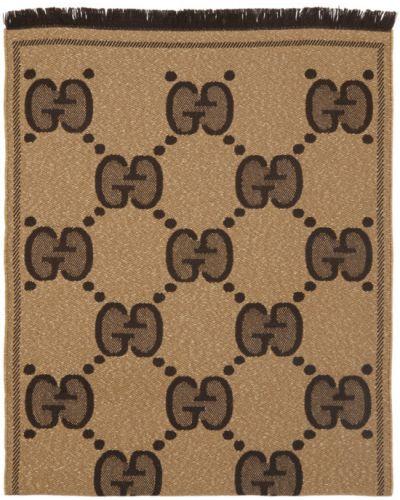 Beżowy wełniany szalik Gucci